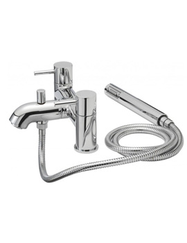 Tre Mercati Milan Pillar Bath Shower Mixer Tap With Shower Kit