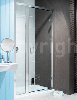Simpsons Classic Hinged Shower Door With Inline Panel 1100mm