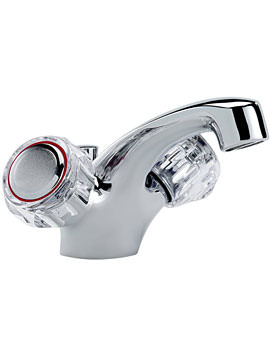 Tre Mercati Capri Dual Flow Mono Basin Mixer Tap With Waste And Head