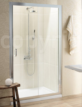 Simpsons Classic Single Slider Shower Door 1400mm