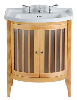 Imperial Linea Bow Fronted Vanity Unit With 2 Bow Fronted Doors