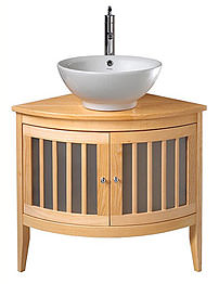 Imperial Linea Vessel Bowl Corner Vanity Unit With 2 Doors 800mm