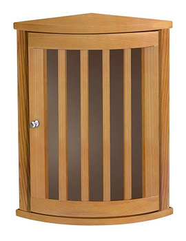 Imperial Linea Corner Wall Cabinet With 1 Curved Door Natural Oak