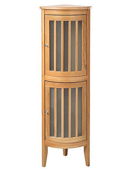 Imperial Linea Corner Tall Unit With 2 Bow Fronted Doors