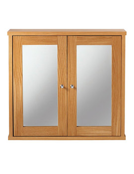 Imperial Linea Wall Cabinet With 2 Wood Or Mirror Glass Doors
