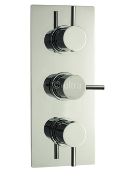 Ultra Quest Triple Concealed Thermostatic Shower Valve