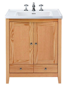 Imperial Radcliffe Esteem Square Vanity Unit With 2 Wooden Doors