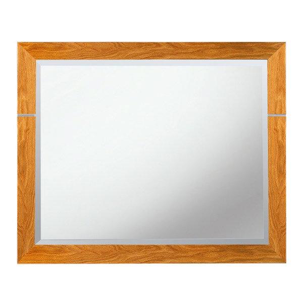 imperial cuda bathroom mirror 710 x 570mm oak