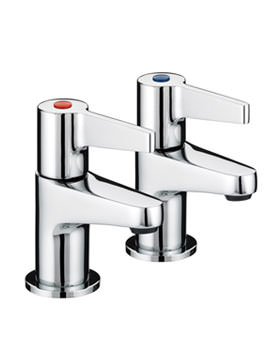 Bristan Design Utility Lever Pair Of Basin Taps