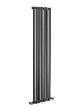 Reina Neva Anthracite 295 x 1500mm Single Panel Vertical Radiator