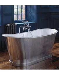 Imperial Radison Cast Iron Bath In Polished Aluminium 1700 x 725mm