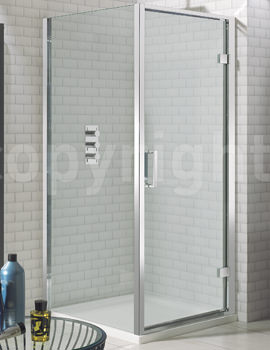 Simpsons Elite 900 x 1950mm Hinged Shower Door