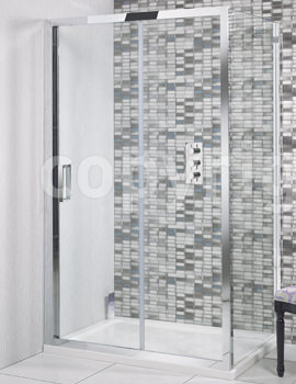 Simpsons Elite 1200 x 1950mm Single Slider Shower Door
