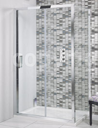 Simpsons Elite 1400 x 1950mm Single Slider Shower Door