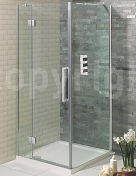 Simpsons Ten Frameless Hinged Pivot Door 800mm With Inline Panel