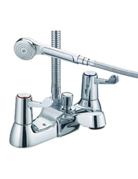 Bristan Value Lever Bath Shower Mixer Tap With 76mm Levers