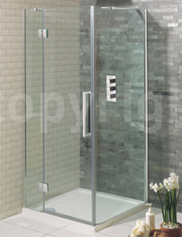 Simpsons Ten 1400mm Frameless Hinged Door With 2 Inline Panels