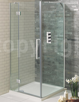 Simpsons Ten 1200mm Frameless Hinged Door With 2 Inline Panels
