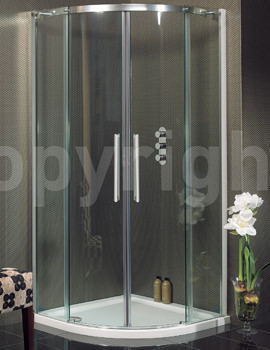 Simpsons Ten 1000 x 1000mm Quadrant Double Door Shower Enclosure
