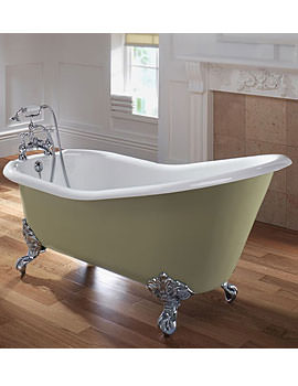 Imperial Ritz Cast Iron Slipper Bath With Cast Iron Feet 1540mm