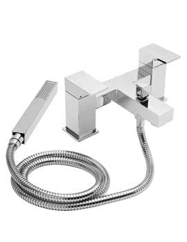 Tre Mercati Edge Pillar Mounted Bath Shower Mixer Tap With Shower Kit