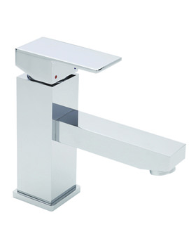 Tre Mercati Edge Mono Basin Mixer Tap With Click Clack Waste Chrome