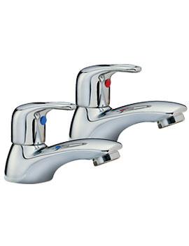 Tre Mercati Latina Pair Of Bath Taps Chrome