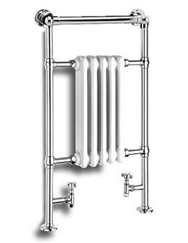 Reina Oxford White And Chrome 538 x 960mm Traditional Design Radiator