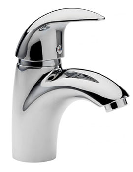 Tre Mercati Novara Chrome Mono Basin Mixer Tap With Click Clack Waste