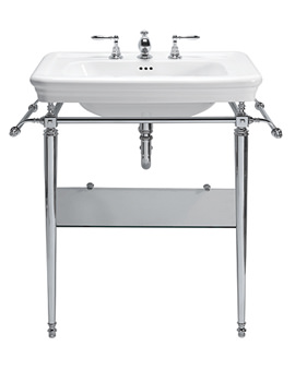 Imperial Etoile Large Basin 700mm And Vergennes Chrome Basin Stand