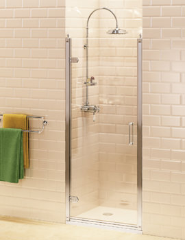 Burlington Hinged Shower Door 900mm