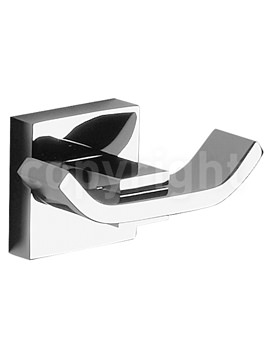 Crosswater Zeya Double Robe Hook Chrome