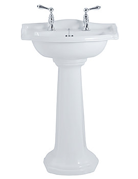 Imperial Drift Small Basin 540mm Wide And Pedestal