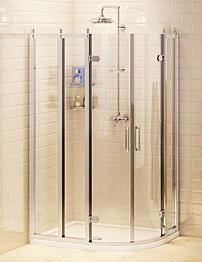 Burlington Offset Quadrant Shower Enclosure 1000 x 800mm