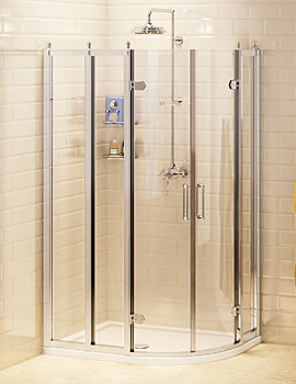 Burlington Offset Quadrant Shower Enclosure 1000 x 800mm