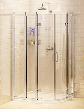 Burlington Offset Quadrant Shower Enclosure 1200 x 800mm