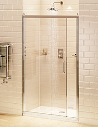 Burlington Soft Close Recessed Sliding Shower Door 140cm