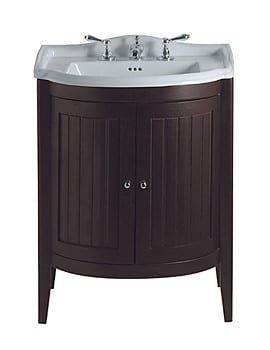 Imperial Drift 2 Bow Fronted Wooden Doors Vanity Unit And Basin