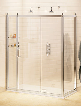 Burlington Soft Close Slider Door 110cm With 80cm Side Panel