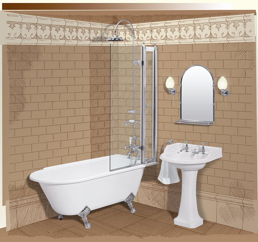 burlington bath screen with access panel