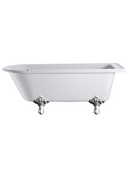 Burlington Hampton Freestanding Bath With Chrome Traditional Legs