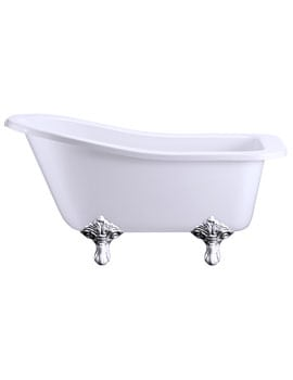 Burlington Buckingham Slipper Bath With Chrome Traditional Legs