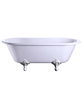 Burlington Windsor Double Ended 170cm Bath With Traditional Legs