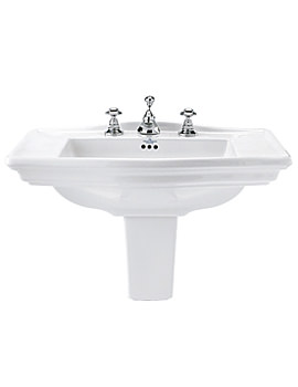 Imperial Westminster Large Basin 685mm With Large Semi Pedestal
