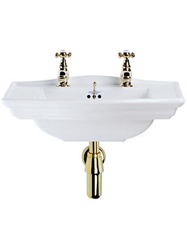 Imperial Westminster Wall Hung Cloakroom 1 Tap Hole Basin 535mm Wide