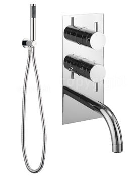 Crosswater Kai Lever Thermostatic Valve With Spout And Wall Hand Shower Kit