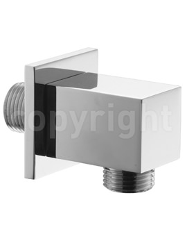 Crosswater Square Wall Outlet For Shower