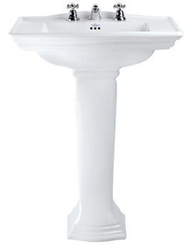 Imperial Westminster 1 Tap Hole Large Basin 685mm With Full Pedestal