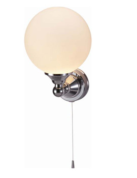 Burlington Edwardian Single Round Light With Pull Cord