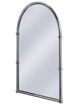 Burlington Arched Mirror With Chrome Frame